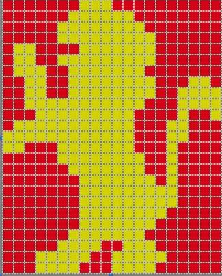 harry potter knitting charts gryffindor intarsia chart the leaky cauldron org the