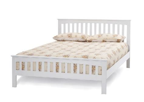 small bed frames white serene amelia 4ft small white wooden bed frame by
