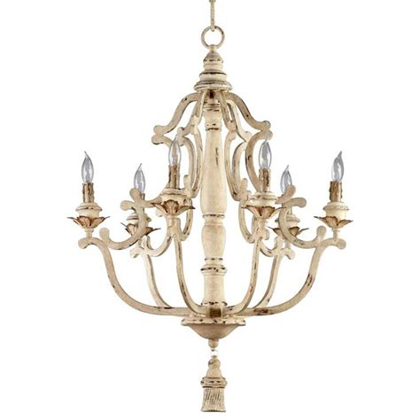 antique chandeliers maison country antique white 6 light chandelier