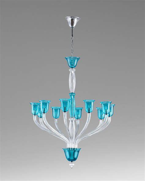 Teal Glass Chandelier Vetrai 10 Light Teal Glass Chandelier By Cyan Design