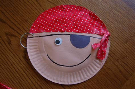 paper plate crafts pirate paper plate craft preschool education for