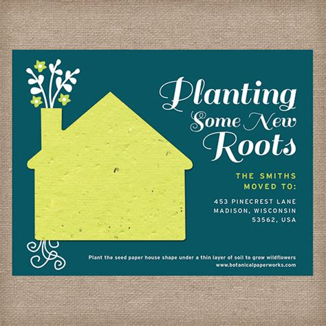 how to make moving cards planting new roots moving announcement moving