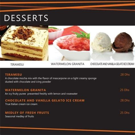 our italian dessert menu click our website for more details www pompeiipizzadubai from 6