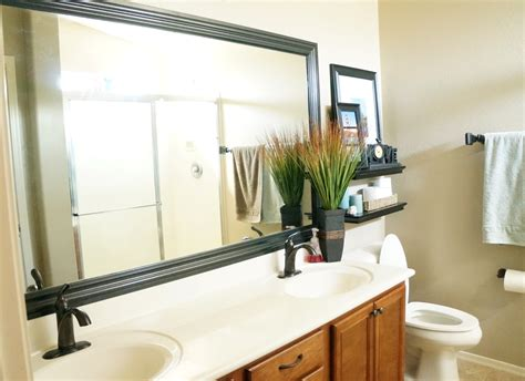 how to frame bathroom mirrors how to frame a mirror diy bathroom mirror frames