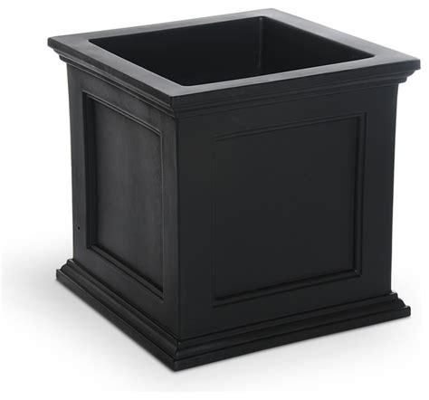 black planters mayne black plastic outdoor planter traditional