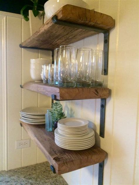 rustic kitchen shelving ideas best 25 rustic floating shelves ideas on