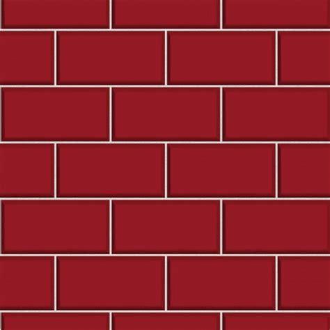 Bathroom Wallpaper Nz by Subway Tile Red Wallsorts
