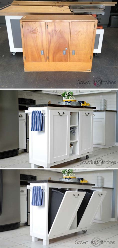 diy kitchen furniture 20 awesome makeover diy projects tutorials to repurpose furniture noted list