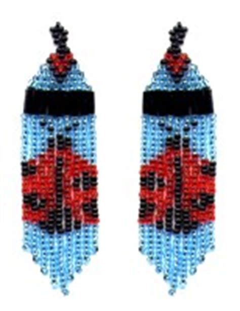 beaded ladybug pattern ladybug fringe earrings pattern and kit