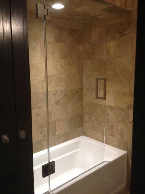 tub shower doors frameless frameless shower door with splash panel for tub
