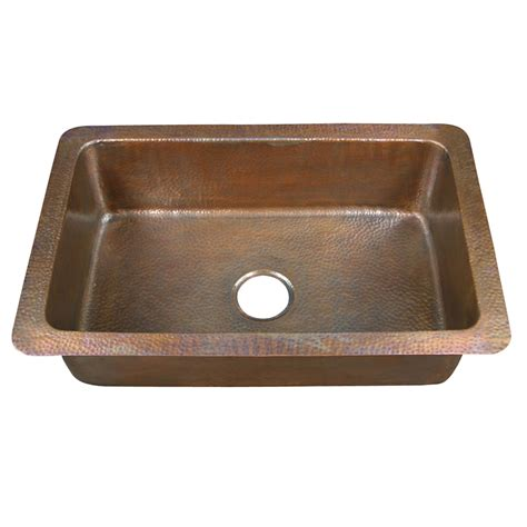 kitchen sinks lowes shop barclay hammered antique copper single basin drop in
