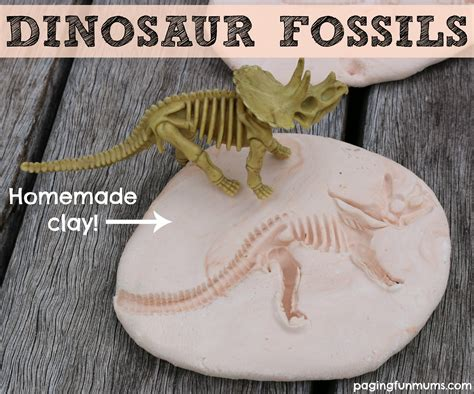 fossil crafts for dinosaur fossils using clay