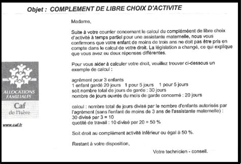 complement libre choix d activit 233 infos articles assistante maternelle