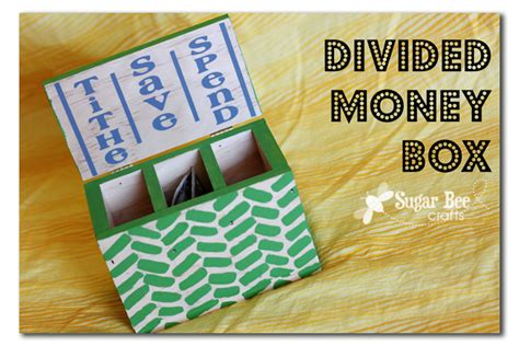 money crafts for divided money box sugar bee crafts