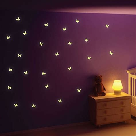 glow in the wall sticker glow in the butterfly wall stickers butterfly wall