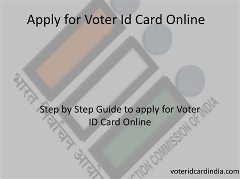 how to make my voter id card ppt apply for voter id card powerpoint