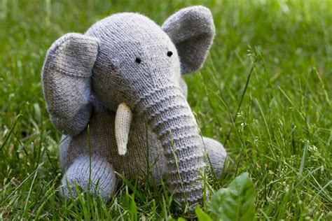 knitted elephant free pattern pin by mumsnet on crafts