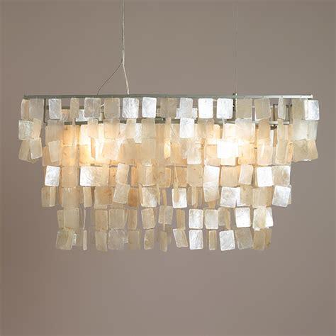 capiz rectangular chandelier rectangular capiz hanging pendant lantern world