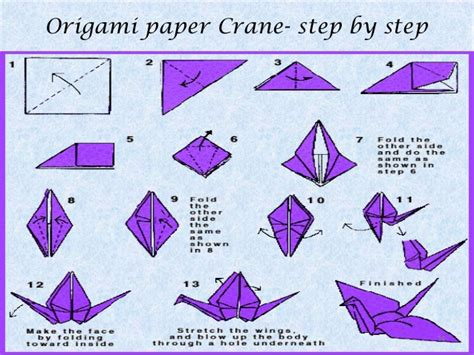 origami crane step by step origami a paper folding
