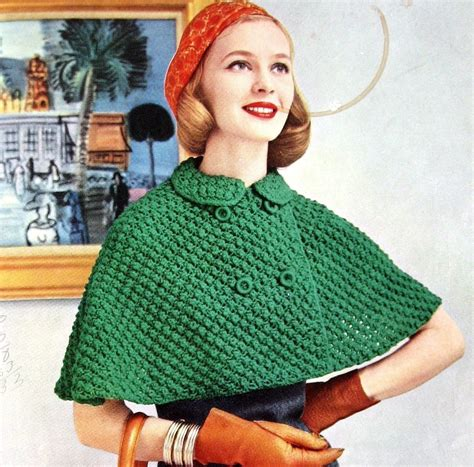 knitted cape womens knitted cape pattern with breasted closure