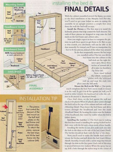 murphy bed woodworking plans 25 best ideas about murphy bed plans on
