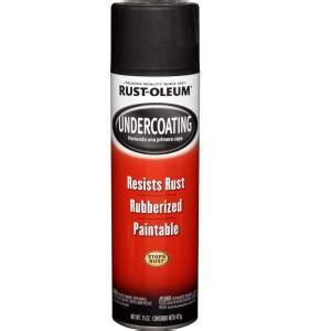 home depot paint rust rust oleum automotive 15 oz black rubberized undercoating