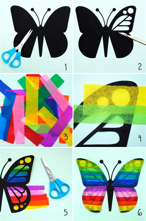 butterfly tissue paper craft butterfly mini eco