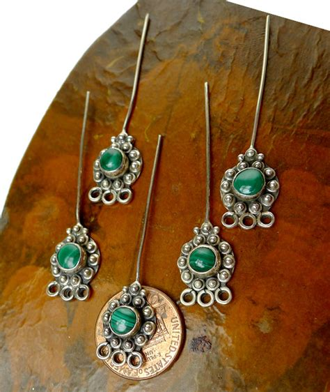 headpins jewelry malachite headpins sterling silver and malachite jewelry