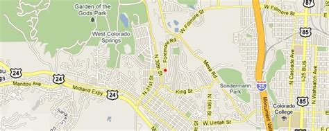 Garden Of The Gods Location Directions To Gateway