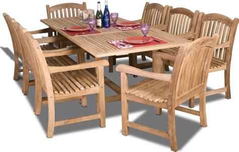teak patio dining sets amazonia teak newcastle 9pc teak outdoor patio dining set