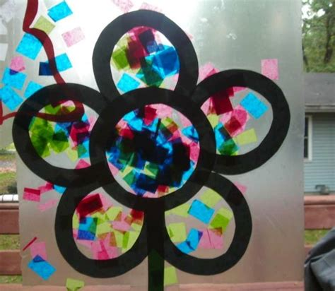 stained glass paper craft contact tissue paper stained glass flower t port