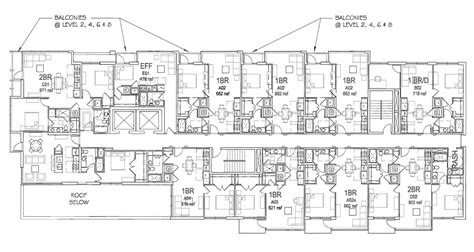 building floor plan revised plans for apartment building at 15th v meridian hill neighborhood association