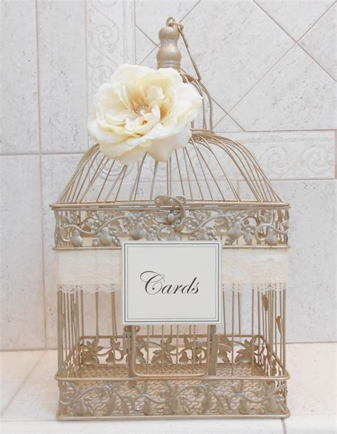 how to make a wedding card holder chagne gold wedding birdcage card holder wedding card box