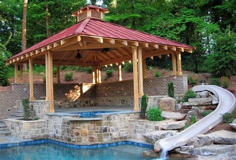 Garage Plans With Carport beautiful gazebo designs for your swimming pool pergola