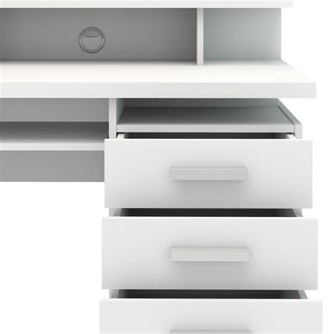 computer desk drawer four drawer computer desk in white 8012549