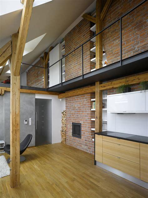 small loft small attic loft apartment in prague idesignarch
