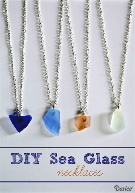 make sea glass jewelry diy sea glass necklace tutorial darice