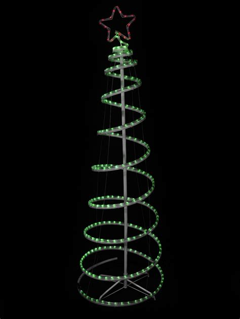 led rope light tree green with 3d led spiral rope light tree 1 8m