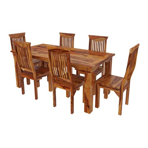 wood table and chairs idaho modern rustic solid wood dining table chair set