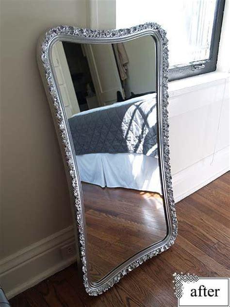 spray painting mirror frame mirror frame spray painted with krylon s premium metallic
