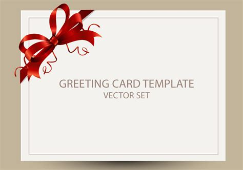 greeting card free freebie greeting card templates with bow ai eps