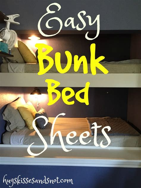 how to make bunk bed sheets easy bunk bed sheets hugs kisses and snot