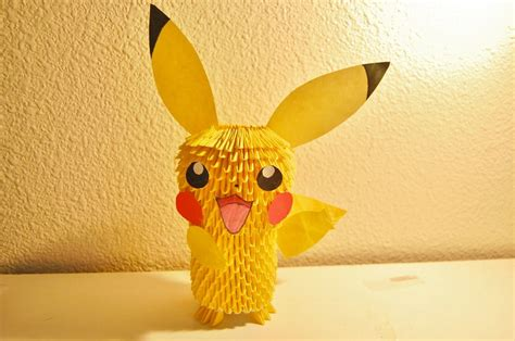 3d pikachu origami 3d origami pikachu by ibeautylovely on deviantart