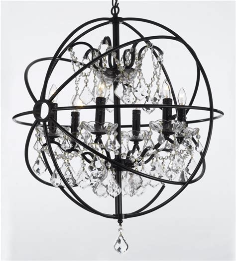 the gallery chandelier j10 30198 6 wrought with wrought iron