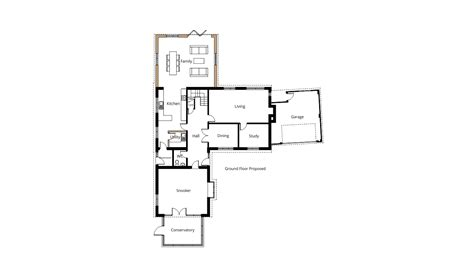 floor planning application two storey rear extension for larger kitchen and master