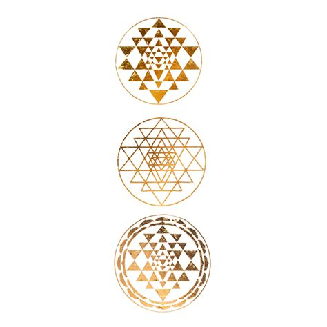 sri yantra collection gold tattoos shop