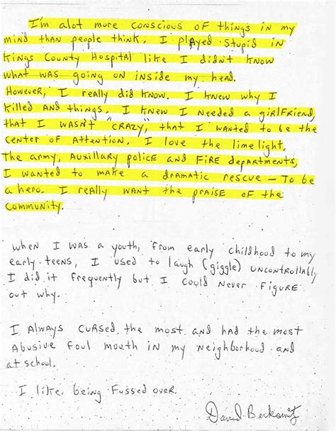 Home Design Blogs Nyc letters from prison son of sam david berkowitz