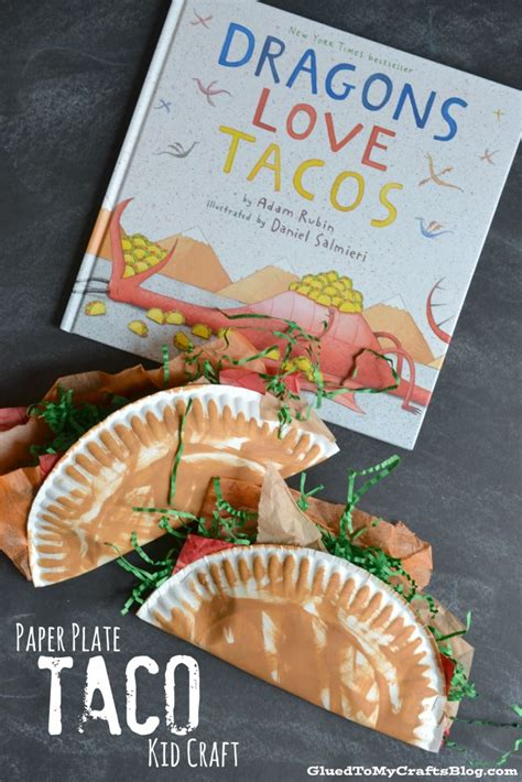cooking crafts for paper plate taco kid craft