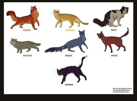 warrior cats what is your warrior cat name and clan breeds picture