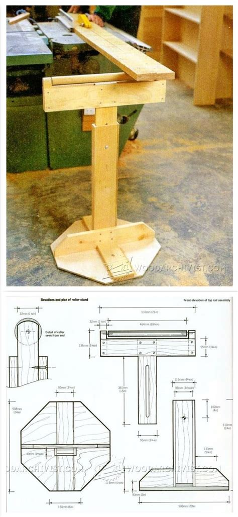 roller stands for woodworking wooden roller stand plans workshop solutions plans tips